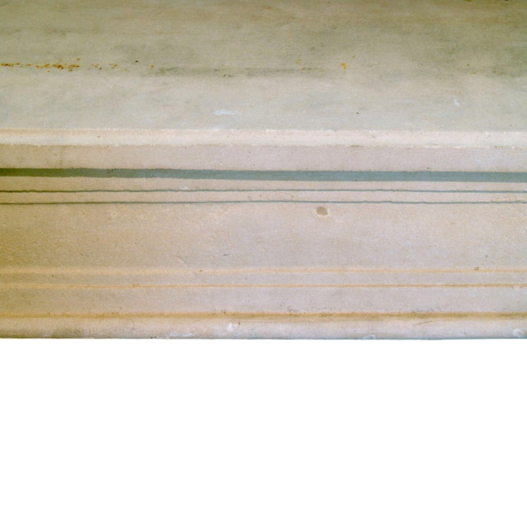 French Early 19th Century Louis XVI Style Limestone Fireplace Mantel For Sale 1