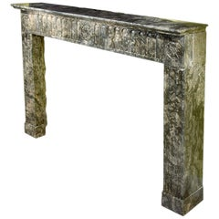 French Early 19th Century Louis XVI Style Marble Mantel