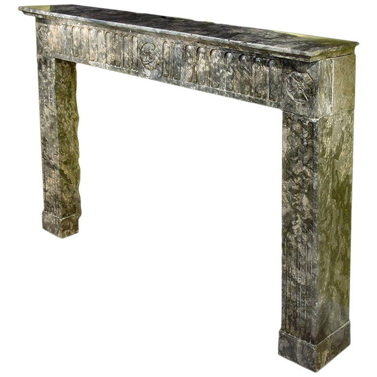 French Early 19th Century Louis XVI Style Marble Mantel For Sale