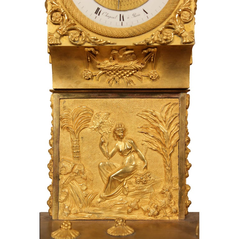 French Early 19th Century Louis XVI St. Ormolu Mantel Clock For Sale 1