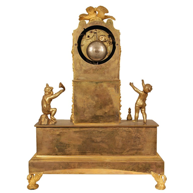 French Early 19th Century Louis XVI St. Ormolu Mantel Clock For Sale 2