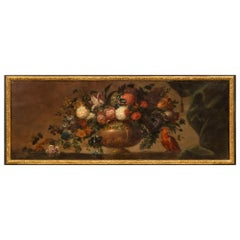 French Early 19th Century Louis XVI Style Oil on Canvas Painting