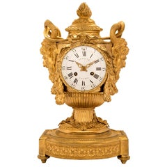 French Early 19th Century Louis XVI Style Ormolu Clock, 'signed Lepaute Paris'