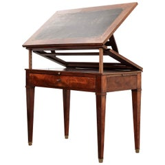 French Early 19th Century Mahogany Adjustable Drafting Desk