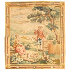 French Early 19th Century Tapestry 2'3 x 2'10