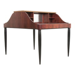 French Early 20th Century Art Deco Partners Desk