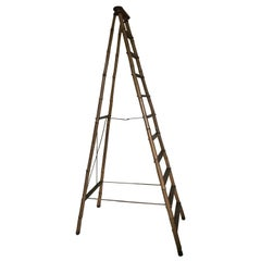 French Early 20th Century Bamboo Steps Ladders