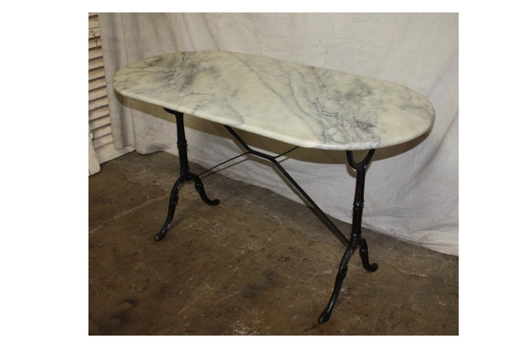 French early 20th century Bistro table.