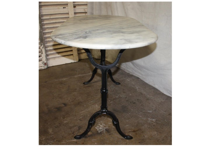 Iron French Early 20th Century Bistro Table