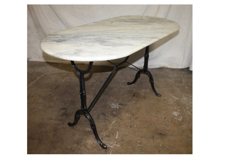 French Early 20th Century Bistro Table 2