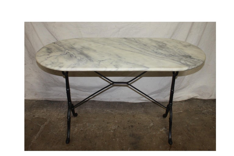 French Early 20th Century Bistro Table 3