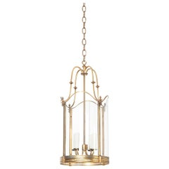 French Early 20th Century Brass and Glass Lantern