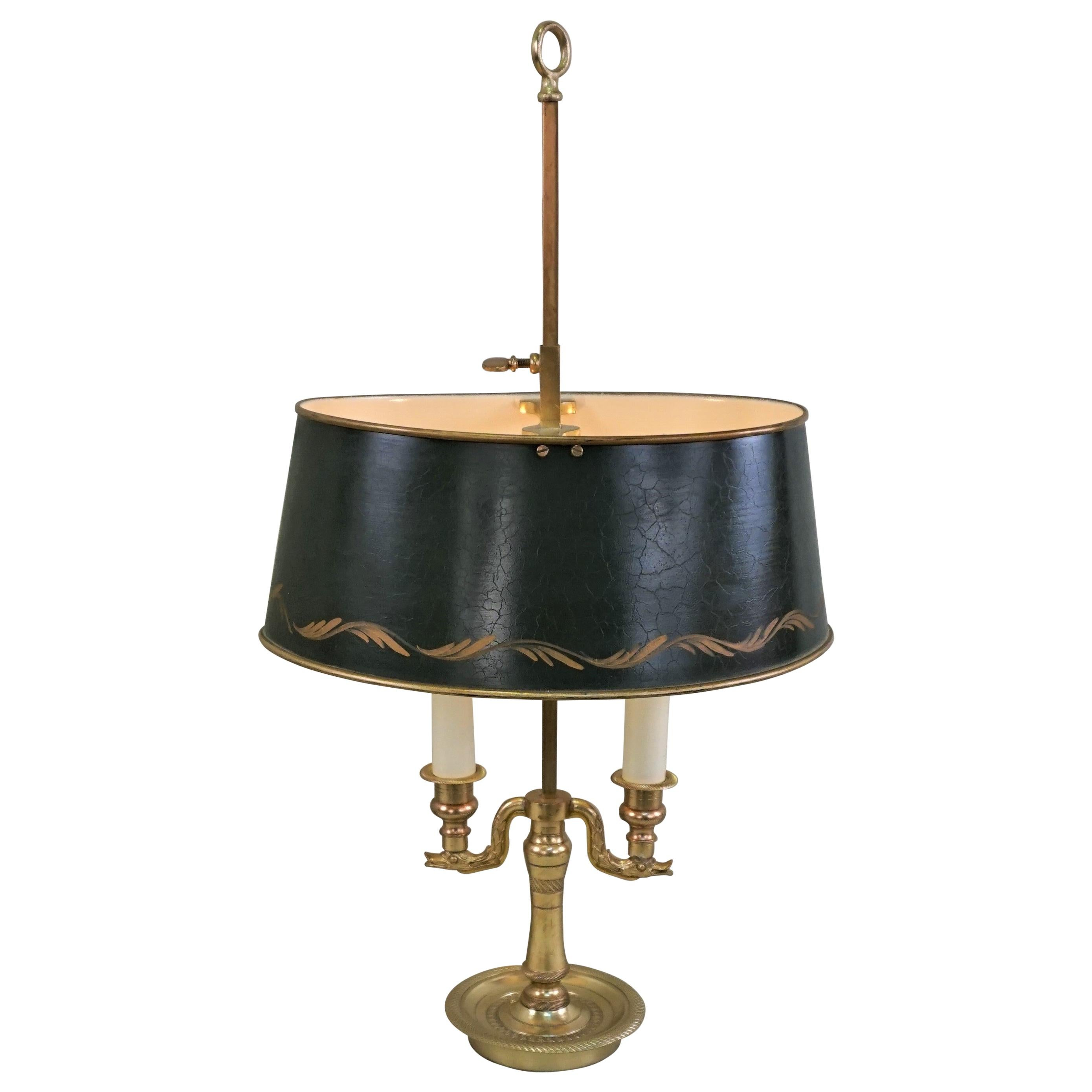 French Early 20th Century Bronze Bouillotte Desk Lamp