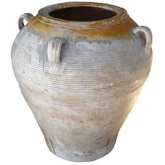 French Early 20th Century Clay Olive Jar