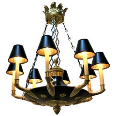 French Early 20th Century Empire Style Chandelier