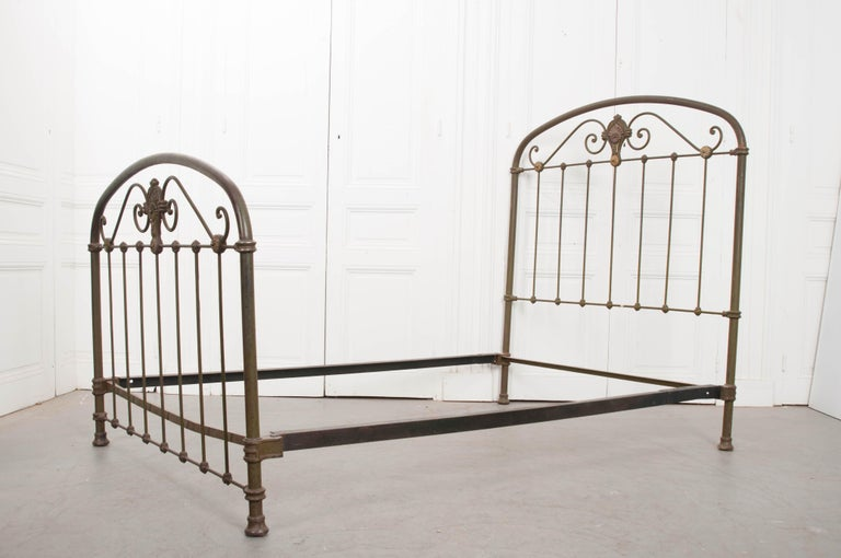 French Early 20th Century Full Metal Daybed For Sale 6
