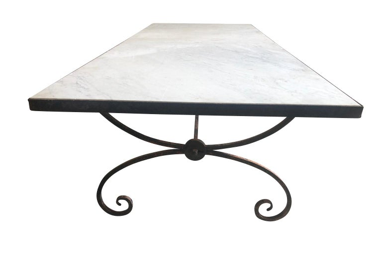 Iron French Early 20th Century Garden Dining Table