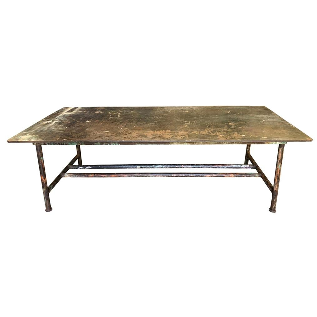 French Early 20th Century Iron Work Table