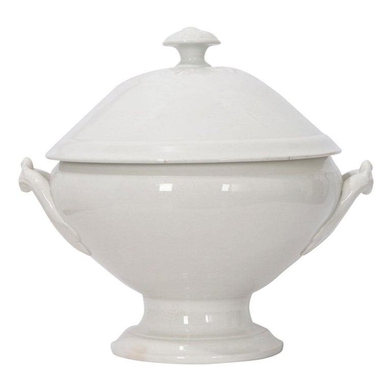 French Early 20th Century Ironstone Tureen In Good Condition In Baton Rouge, LA