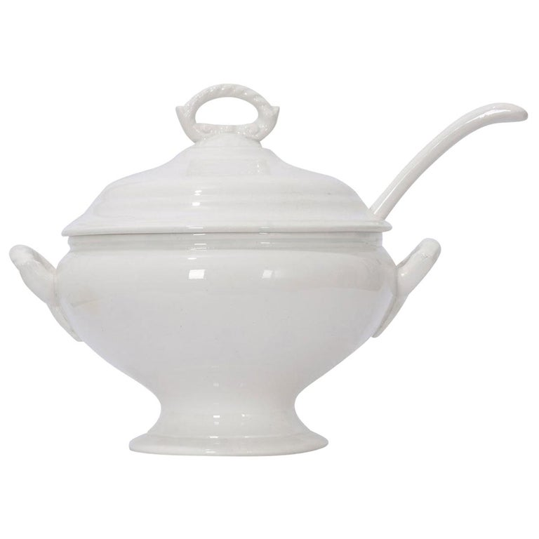 French Early 20th Century Ironstone Tureen For Sale