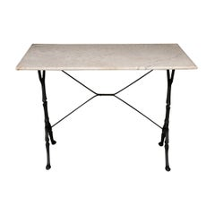 French Early 20th Century Marble-Top Bistro Table