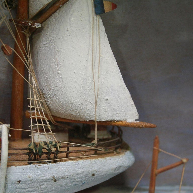 French Early 20th Century Naive Ship / Boat Diorama For Sale 7