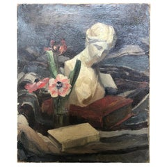 French Early 20th Century Nature Morte Oil Painting