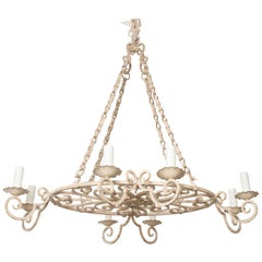 French Early 20th Century Painted Chandelier