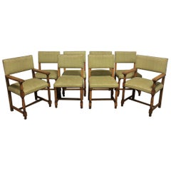 French Early 20th Century Set of Dining Chairs and Armchairs