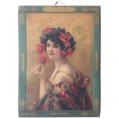 French Early 20th Century Signed Advertising Poster