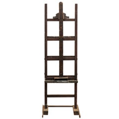 French Early 20th Century Wood Adjustable Artist Easel