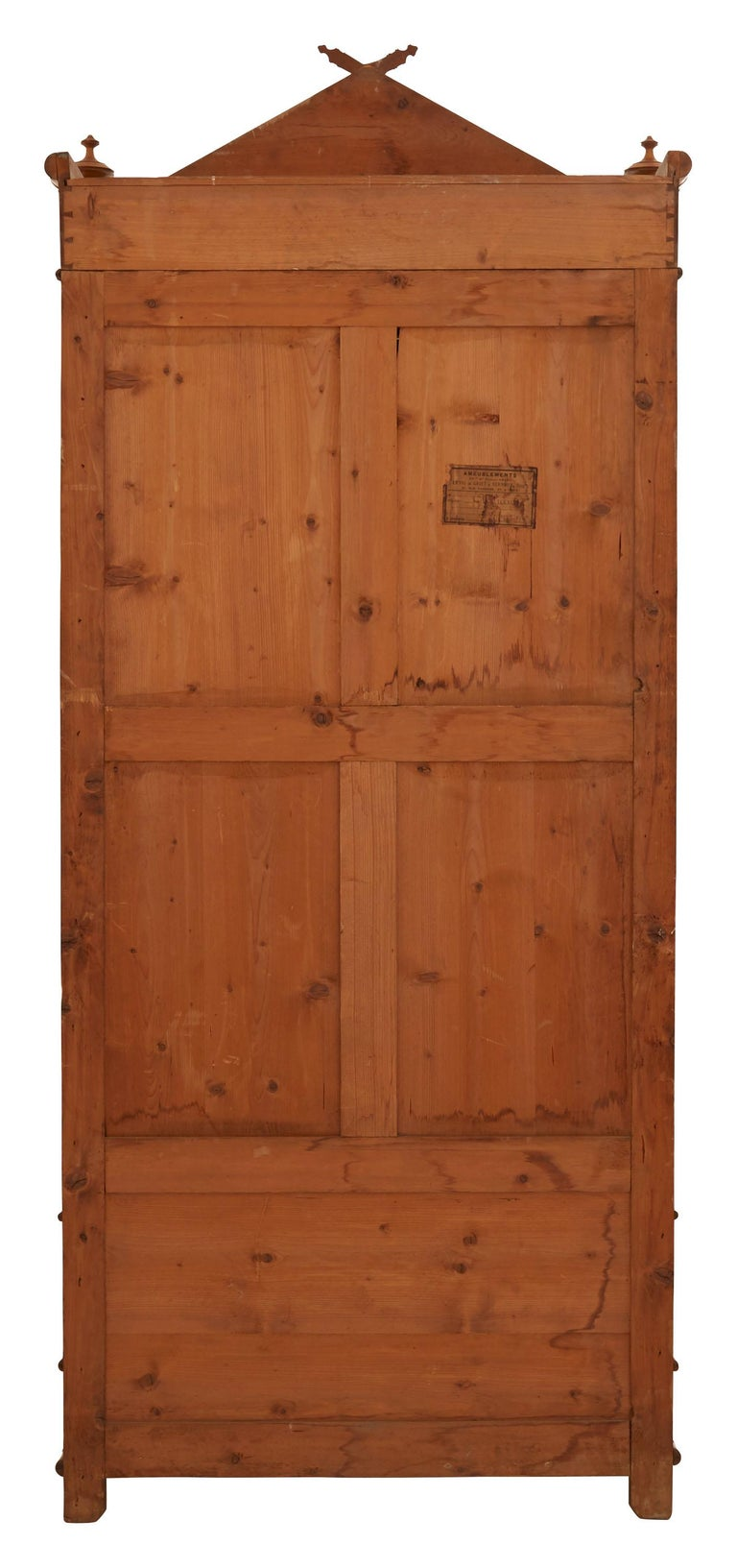 French Early 20th Century Wooden Faux Bamboo Armoire 2