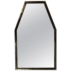 Early Modern / Cubist Hammered Wrought Iron Mirror Attributed to Edgar Brandt