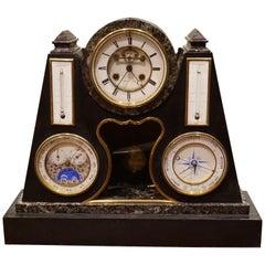 French Early Perpetual Calendar Clock