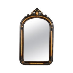 French Ebonized and Gilded Wall Mirror, circa 1900