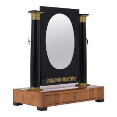 French Ebonized Empire Table Mirror, Early 19th Century