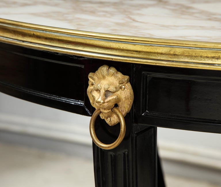 French Ebonized Gueridon Attributed to Maison Jansen For Sale 1