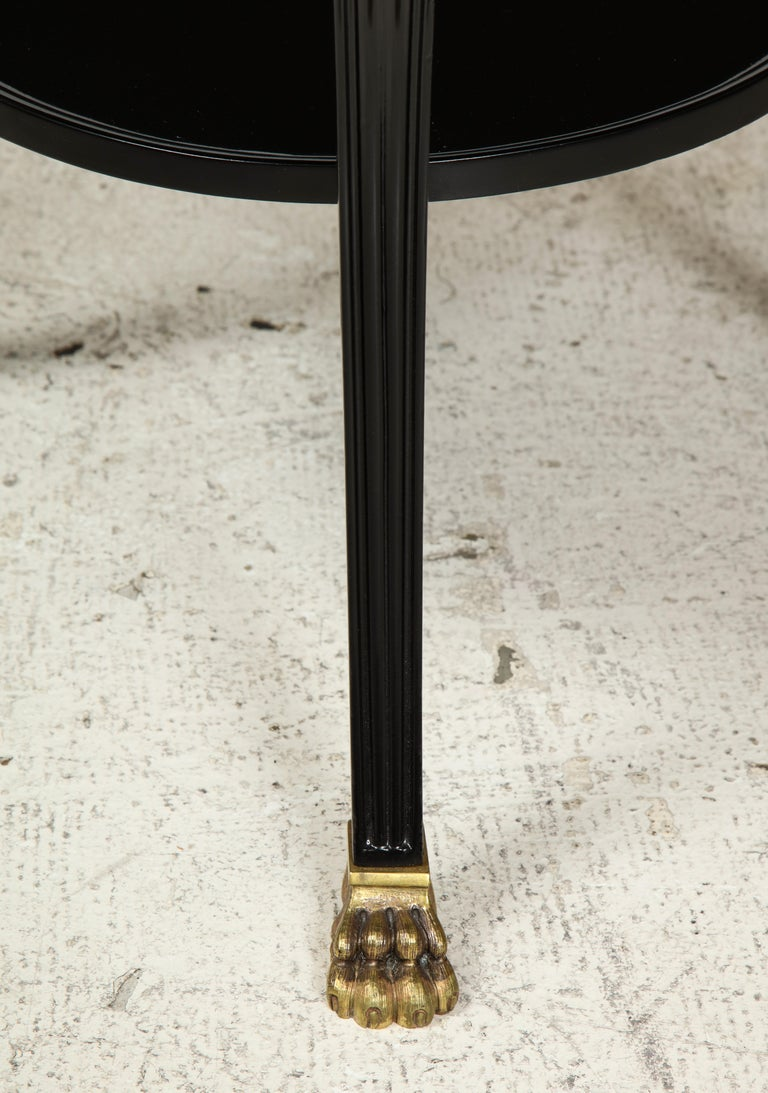French Ebonized Gueridon Attributed to Maison Jansen For Sale 4