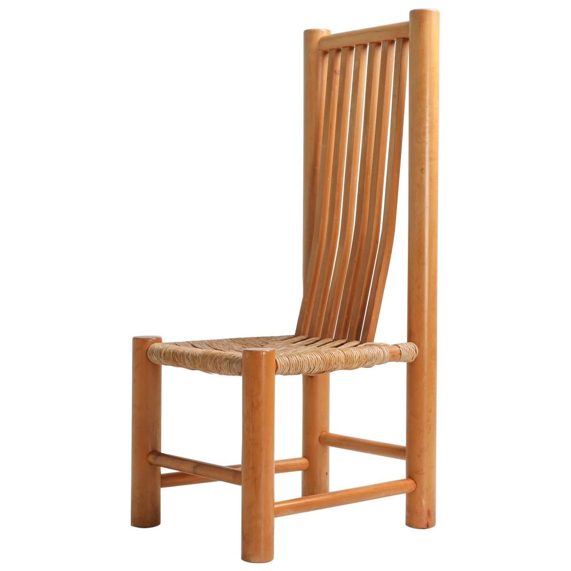 French Elm and Cord Chairs
