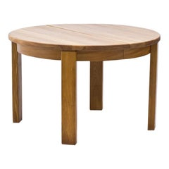 French Elm Dining Table, 1970s