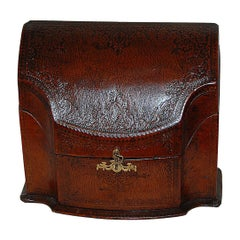 French Embossed Leather Stationery Box by Dreyfous, Early 20th Century