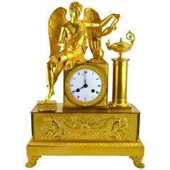 French Empire Allegorical Clock of Love Nourishing Life