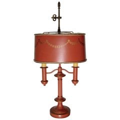 French Empire Bouillette Style Tole Lamp