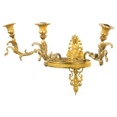 French Empire Bronze Doré Wall Sconce