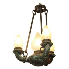 French Empire Bronze Grand Tour Chandelier