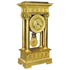 French Empire Bronze Mantle Clock