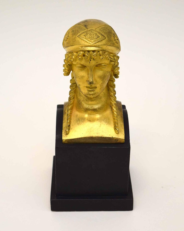 Neoclassical French Empire Bronze of a Woman For Sale