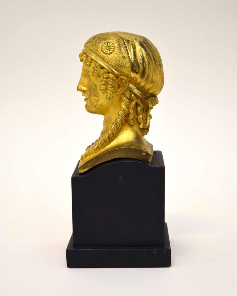 Gilt French Empire Bronze of a Woman For Sale