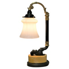 French Empire Bronze Table/Desk Lamp