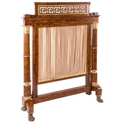 wooden fireplace screen. French Empire Burl Thuya Wood Fireplace Screen with Gilt Bronze Mounts 1810 Antique and Vintage Screens  279 For Sale on 1stdibs